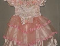 """č. 201 – SVĚDKYNĚ RŮŽOVÁ (vel. 6 let) """"šaty"""""""